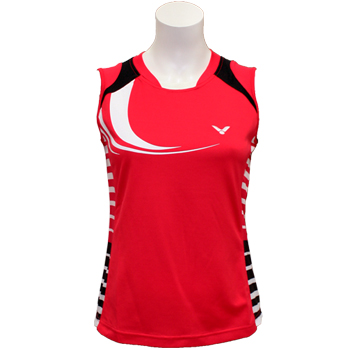 Victor Women's Sleeveless Shirt-0135D - RED