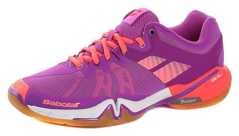 Babolat Women's Shadow Tour Badminton Shoe - Purple/White