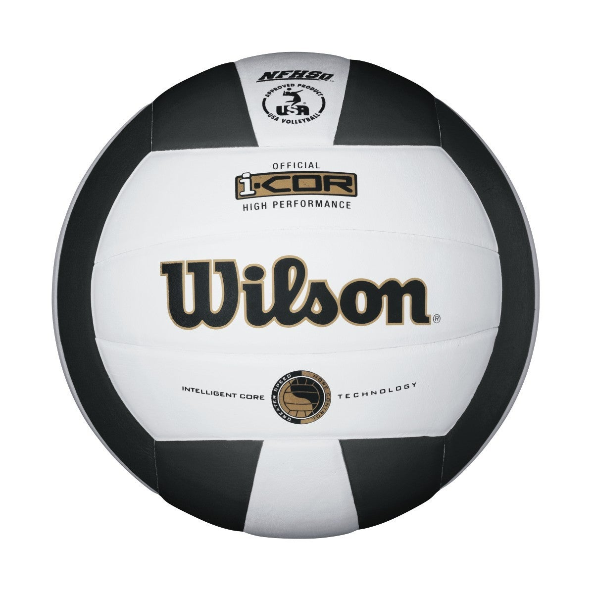 Wilson Indoor Leather Game Ball-Black/White