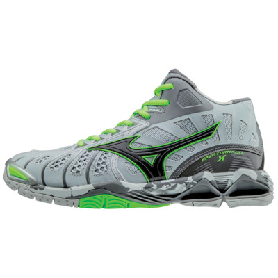 Men's Mizuno Tornado X Mid - Grey/Green