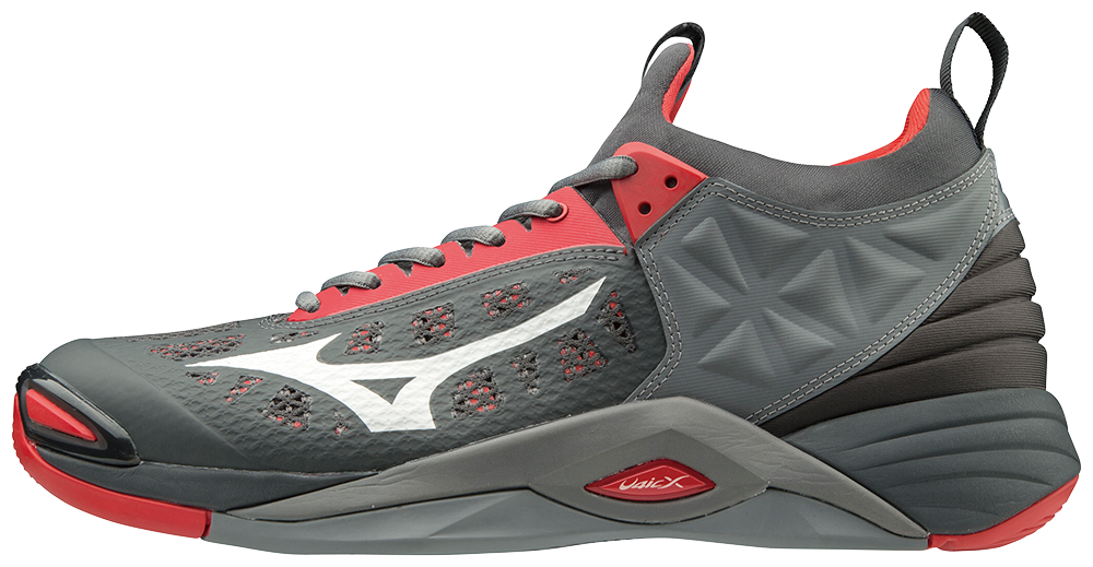 Mizuno Men's Momentum - Grey/Red 2019