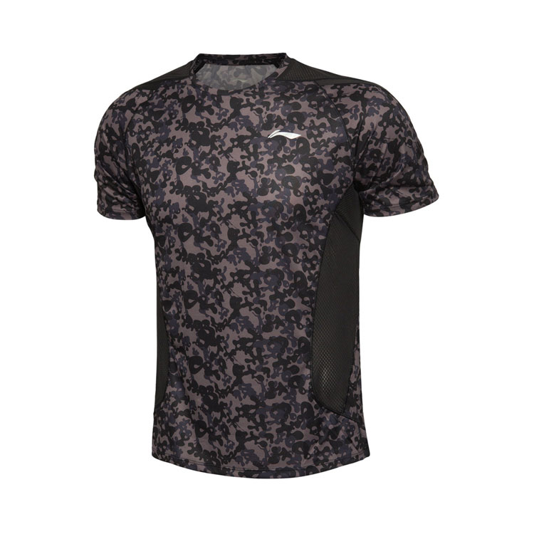 Li-Ning Men's Short Sleeve Jersey ATSK553-1 - BLACK CAMO