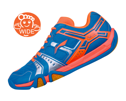 Li-Ning Men's AYTJ073-2 Badminton Shoe Blue/Orange - FINAL SALE