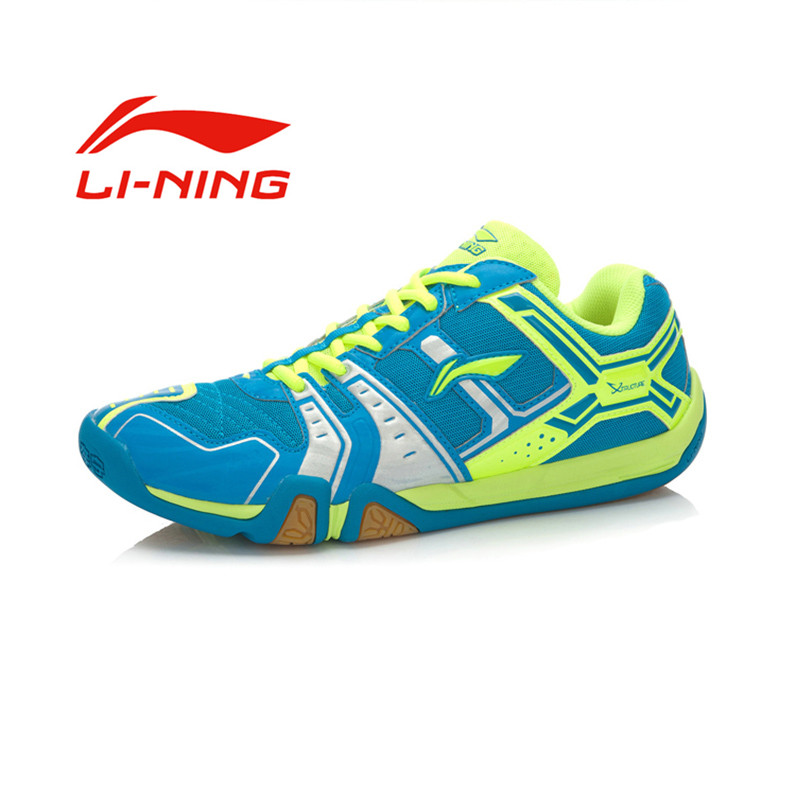 Li-Ning Men's AYTJ073-4 Badminton Shoe - Blue/Yellow