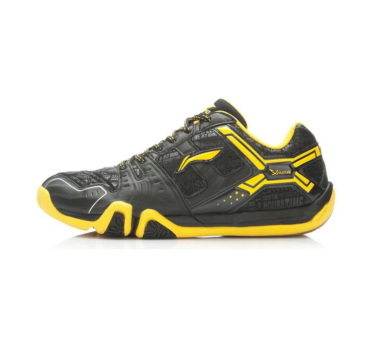 Li-Ning Men's AYTK059-1 Badminton Shoe - Black/Yellow