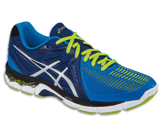 Asics Men's GEL-Netburner Ballistic - Navy/Silver/Electric Blue