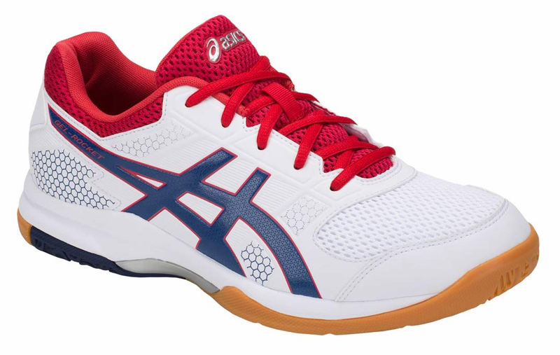 Asics Men's Gel-Rocket 8 - White/Deep Ocean