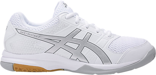 Asics Women's Gel-Rocket 8 - White/Silver/Aluminum