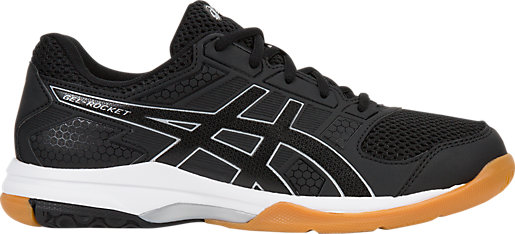 Asics Women's Gel-Rocket 8 - Black/Black/White