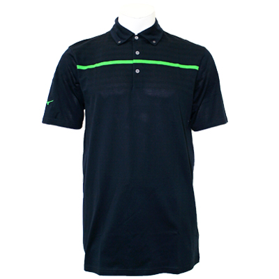 Mizuno Men's Poly Piqué Stripe Polo - Navy