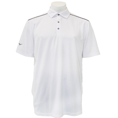 Mizuno Men's Poly Piqué Polo - White
