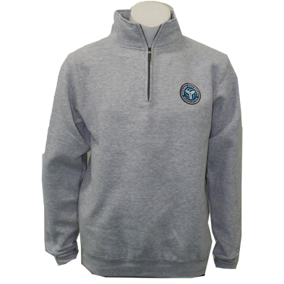 OVA Logo 1/4 Zip - Heather Grey