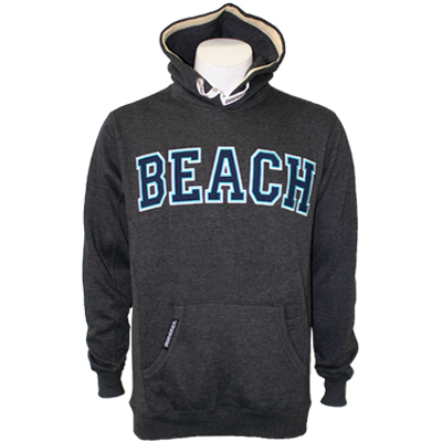 Overkill Beach Hoodie - Charcoal Heather