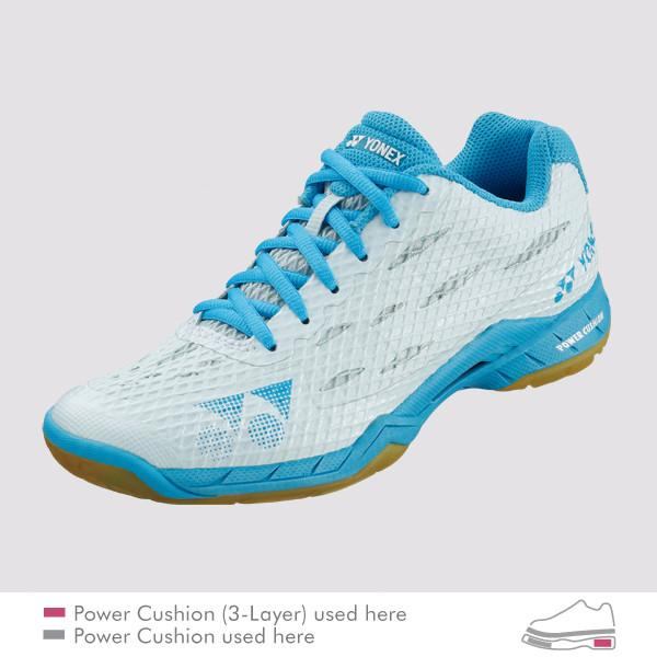 YONEX WOMEN'S POWER CUSHION AERUS SHBALX - Light Blue
