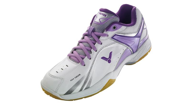 Victor Women's SH-S60L-J Badminton Shoe - WHITE/PURPLE