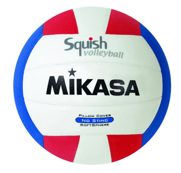 Mikasa Squish Volleyball Red/White/Blue