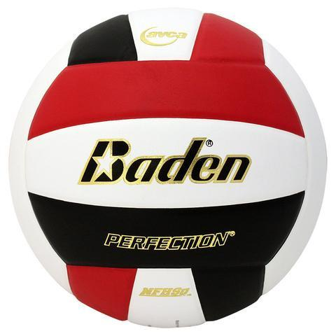 Baden VX5EC Perfection™ Leather Volleyball - Red/White/Black