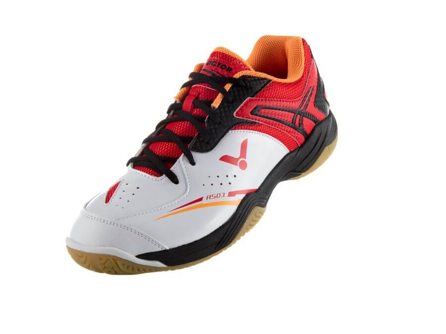 Victor SHA-501AD Badminton Shoe - White/Red