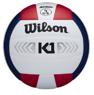 Wilson K1 Silver Volleyball - Red/White/Blue