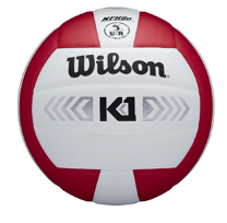 Wilson K1 Silver Volleyball - Red/White