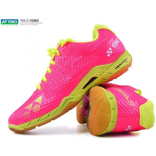 YONEX WOMEN'S POWER CUSHION AERUS SHBALX - PINK/LIME