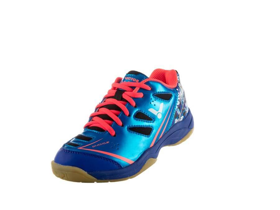 VICTOR SH A370 F JUNIOR COURT SHOES- BLUE