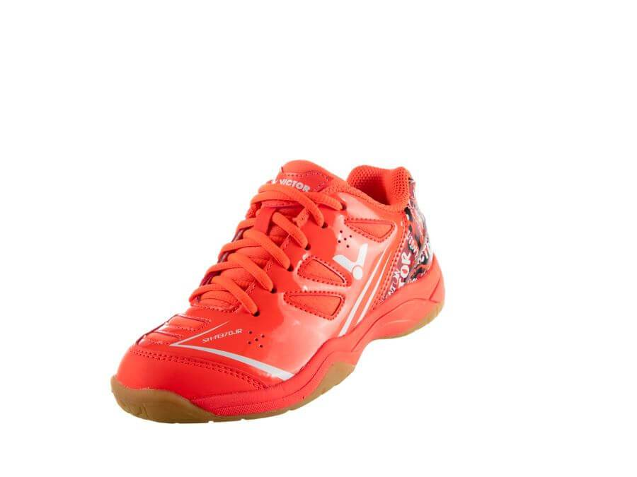 VICTOR SH A370 F JUNIOR COURT SHOES-ORANGE
