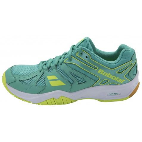 Babolat Women's Shadow Team badminton Shoe - Green/Yellow