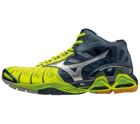Men's Mizuno Tornado X Mid - Navy/Yellow